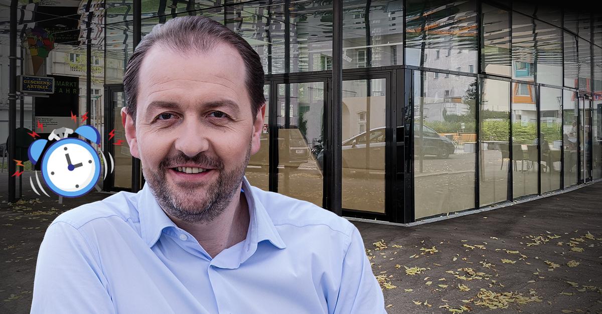 Vizebürgermeister Bernhard Baier (ÖVP), Grünmarkt Urfahr