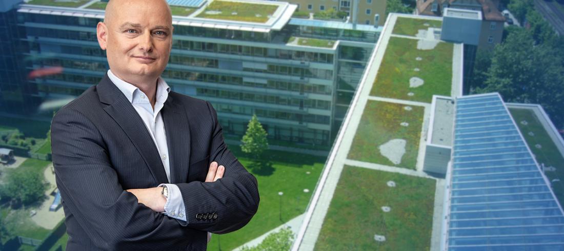 Dachbegrünung als Mittel gegen städtische Hitze-Inseln in Linz