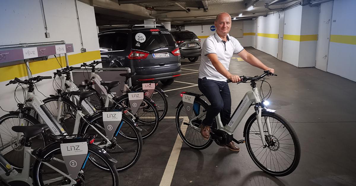 Magistrat Linz spart 1.500 KFZ-Fahrten mit E-Bikes ein