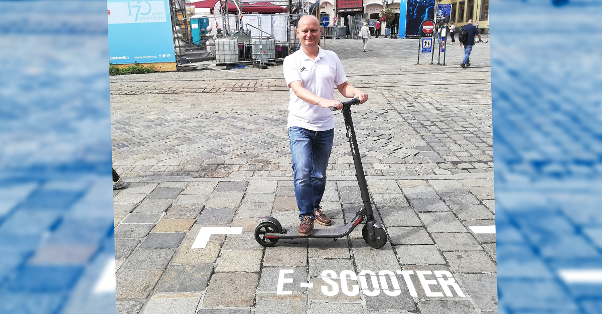 E-Scooter-Parkflächen in Linz