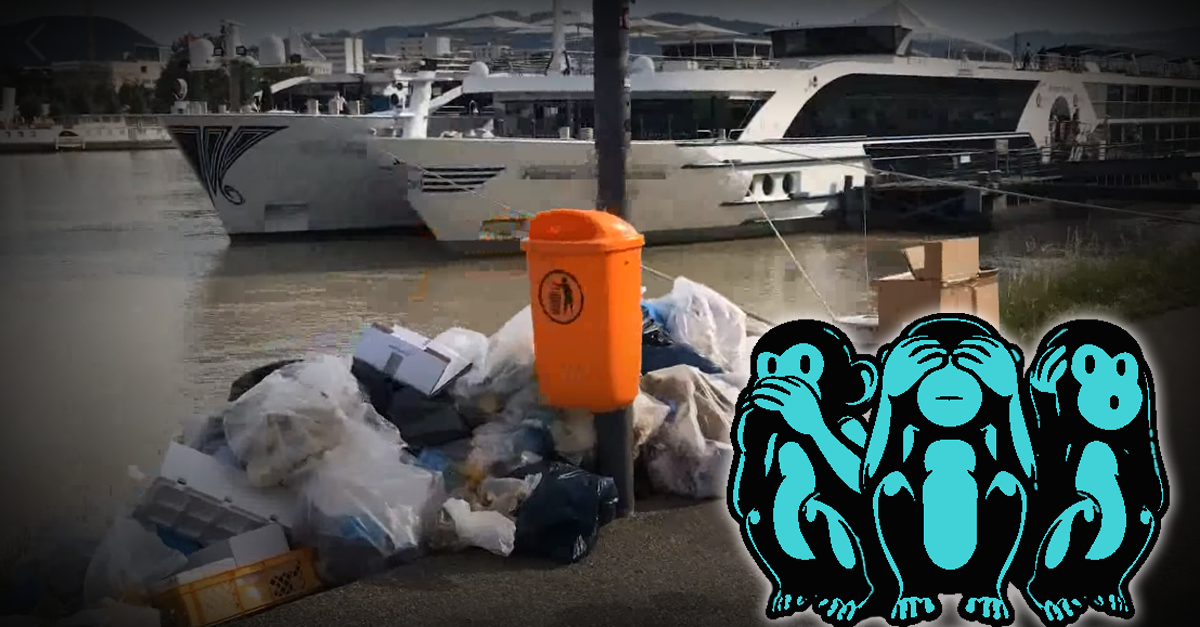 Müllentsorgung durch Kreuzfahrtschiffe in Linz