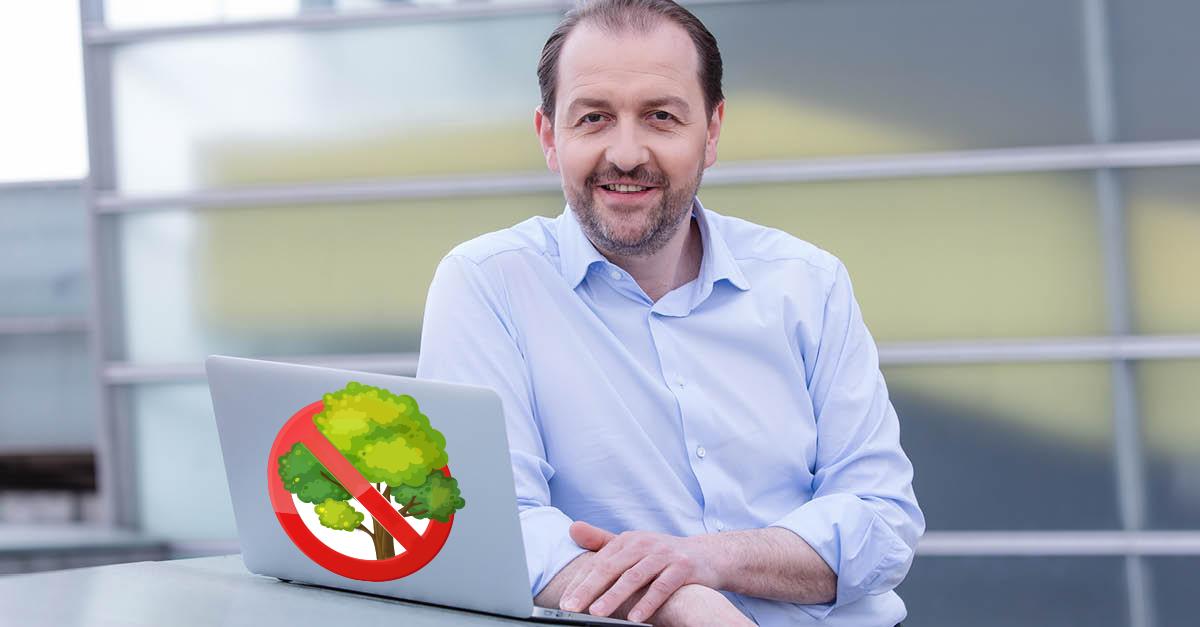 Vizebürgermeister Bernhard Baier (ÖVP) pflanzt Menschen statt Bäume.