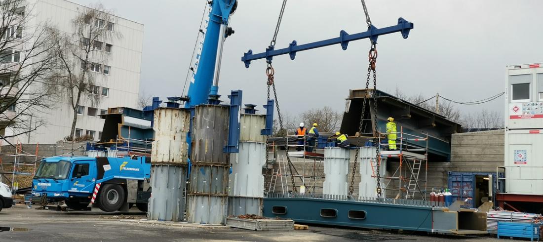 Neue Donaubrücke Linz: Arbeiten am dritten Tragwerk werden sichtbar