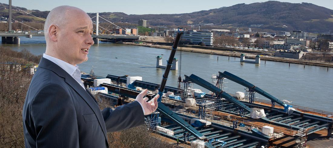 Neue Donaubrücke Linz, Baufortschritt
